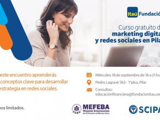 Curso gratuito de marketing digital y redes sociales en pilar