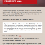 Invitación presentación Feria CIIE 2020 – Fundación ICBC